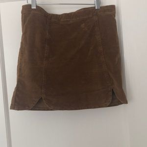 Brandy Melville Corduroy Mini Skirt